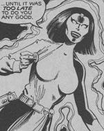 Mystique som leder af det nye Brotherhood of Evil Mutants. Fra #142.