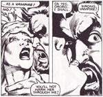 Dracula som 'X-Men'-skurk. I Bill Sienkiewicz' streg. Fra 'X-Men Annual' #6.