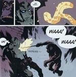Abe Sapiens, Hellboys arbejdskollega, har her problemer med en meget intelligent og sadistisk abe.