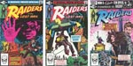 Forsiderne på de tre hæfter, tegneserien udkom i på Marvel, efter først at have været udgivet som en 'Super Special'