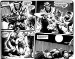 En Mega-City One gangster, det kan man jo se på tøjet, laver en aftale med Gila-Munja mutant-lejemorderklanen.