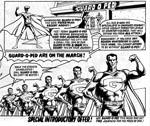 Mega-City One ser en ny type ordenshåndhævere, her tegnet i Ian Gibsons lidt mere cartoon-agtige tegnestil