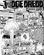 Det årlige optog der markerer Mega-City Ones næsten-udslettelse i atomkrigen - i Ron Smiths streg