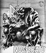 Rumvæsnet Nosferatu, der antager sine ofres skikkelse, i Ron Smith fantastiske og karakteristiske streg