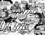 Brendan McCartys mere udsyrede firserudgave af Dredd og en Brit-Cit-Judge