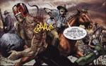 På vej gennem The Cursed Earth får Dredd den hårde retfærdighed at føle på egen krop
