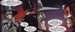 Dredd møder nogle af sine slægtninge fra The Cursed Earth, og som man kan se, er kæmpehagen et familietræk