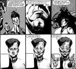 En ung PJ spiller dum over for Judge Dredd, efter at to af hans onkler er døde på mærkværdig vis - tegneren er Liam Sharp.