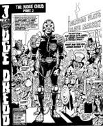 Judge Dredd til salg i den forbandende jords ødemarker, tegnet supernaturalistisk og over the top af Ron Smith.