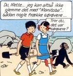 Mads, Mette og Sjoko inden deres eventyr begynder