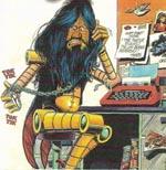 Alan Moore karikeret som script-bot
