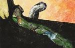 Vores tre helte i kamp mod en magtfuld slange
