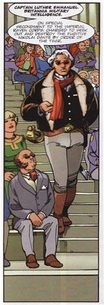 En britisk dusørjæger der også tager del i jagten på Dante, er en tydelig hyldest til den britisk kult-tegneseriefigur Luther Arkwright