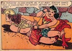 "Wonder Woman underviser i ""binde-lege""."