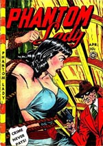 Cover til 'Phantom Lady' #23 (1949) af Jack Kamen.