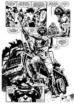 'Thank God it's not Friday!' Da Rogue Trooper dukker op første gang i albummet, er der en slet skjult kommentar til den mislykkede 90'er-Rogue Trooper, Friday (tegner Staz Johnson).