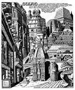 Cythronianernes mørke by Gulag (hvor mon Pat Mills har det navn fra?) - her tegnet af David Pugh.