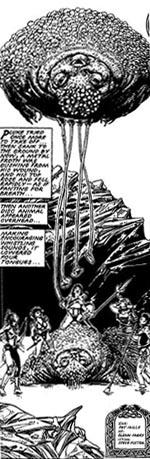 I de andre dimensioner, Sláine rejser igennem, møder han mange underlige skabninger (tegnet af Glenn Fabry).