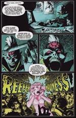 Irvings udgave af '2000 AD's redaktør Tharg The Mighty, fra historien 'Reefer Madness'.