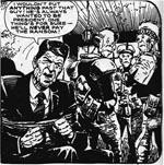 Ronald Reagan bliver taget til fange af rumvæsner
