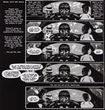 Ikke blot er Frazer en dygtig illustrator, hans sidekomposition er også spot on i forhold til genren