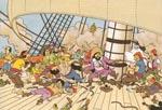 Fra Kaptajn Haddocks særdeles livlige fortælling om Enhjørningens skæbne!