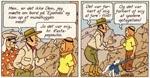 Efter et sammenstød på skibet, møder Tintin igen Rastapopoulos.