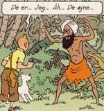 Den drabelige fakir, Tintin løber på i Indien.