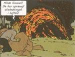 Tintin er vidne til sabotage mod en olierørledning.