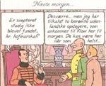 Tintin diskuterer situationen med syldaviens Kong Muskar