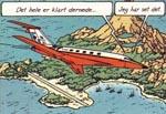 Det kaprede fly lægger an til landing.
