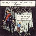 Ved et rent held opdager Tintin en hemmelig vej ind i Soltemplet