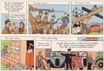 Selv om Hergé portrætterer indianerne som nogle drabelige karle, så sympatiserer han alligevel med dem frem for de grådige amerikanske oliebaroner.