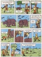 Episoden med næsehornet i 1946-udgaven.