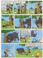 Episoden med næsehornet i den omtegnede version fra 1975.