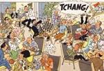 """Et eksempel på en af de mange gange, ordet """"Tchang"""" optræder i albummets begyndelse."""