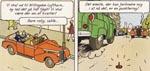 Fin suspenseopbygning af Hergé.