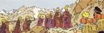Munkene fra lamaklostret - et af de mest eksotiske indslag, vi møder i albummet.