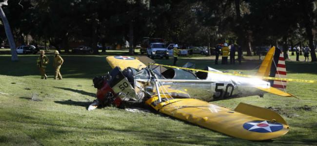 Harrison Ford i flystyrt!